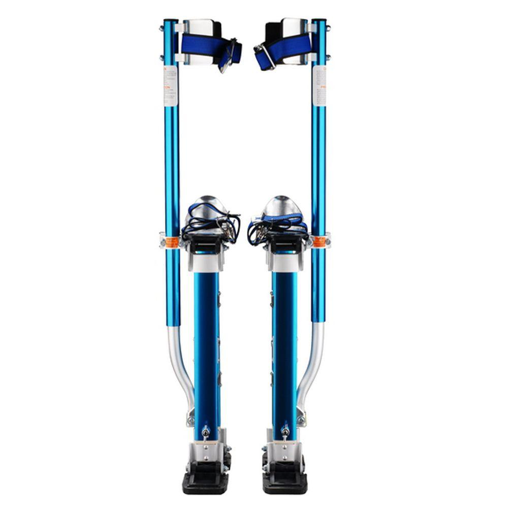 Pentagon Tool 18 in. to 30 in. Adjustable Height Blue Drywall Stilts