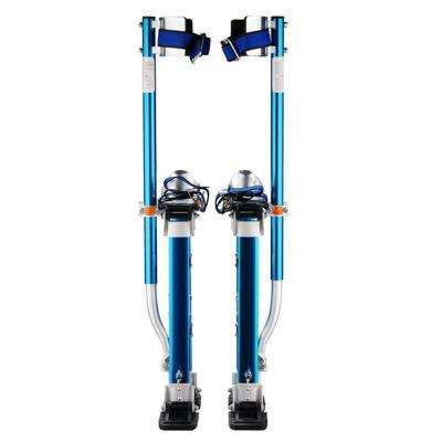 18 in. to 30 in. Adjustable Height Blue Drywall Stilts
