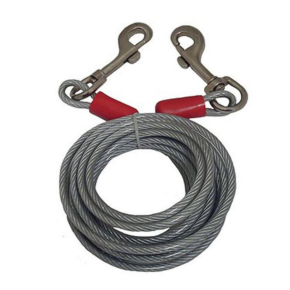 Black Rock 25 ft. Steel Cable with Bolt Snaps-46457 - The Home Depot