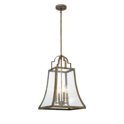 Bruins 4-Light Chateau Linen Pendant