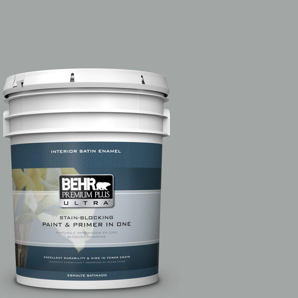 5 gal. #PPU25-04 Sharkskin Suit Satin Enamel Interior Paint