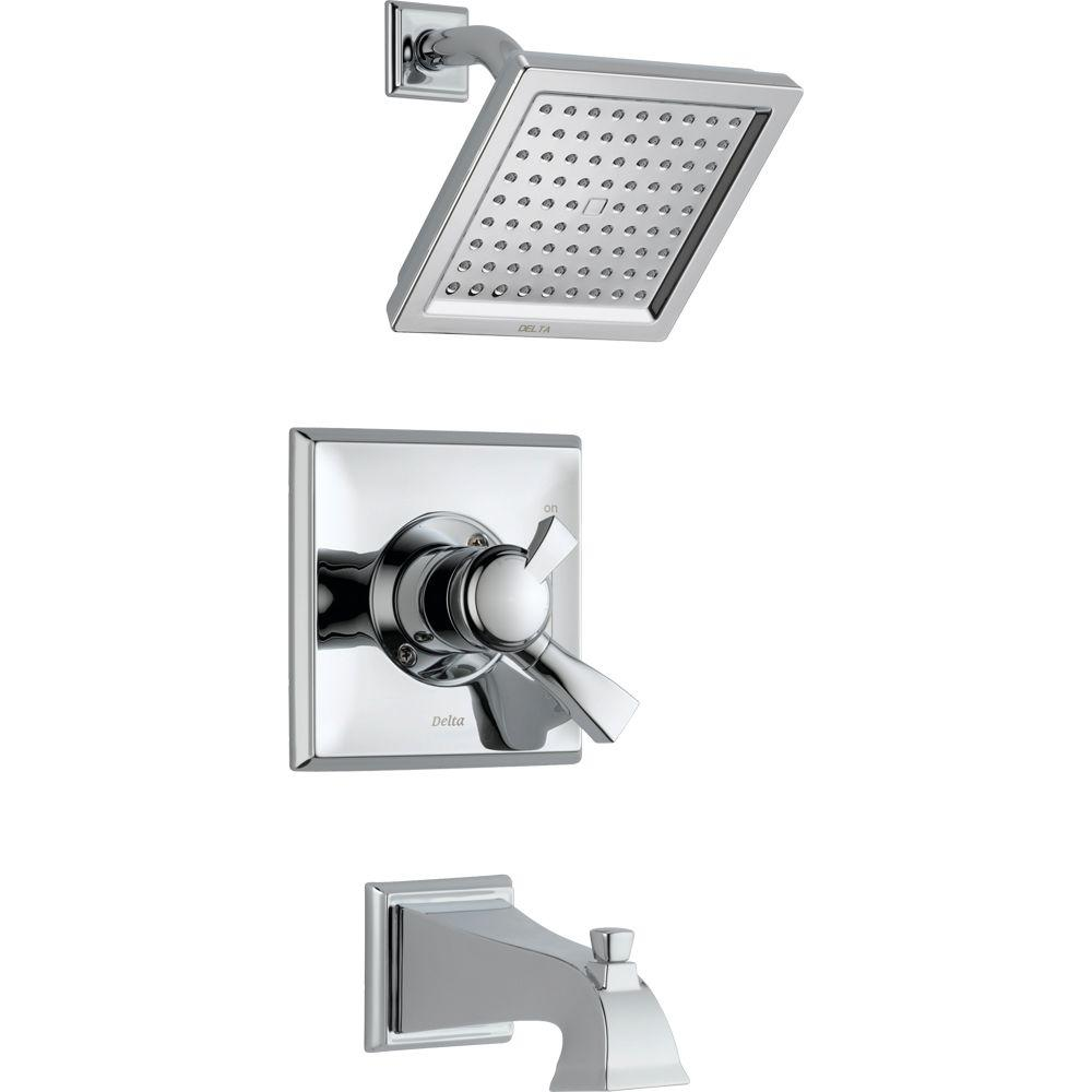Delta Dryden 1-Handle Tub and Shower Faucet Trim Kit in Chrome ...