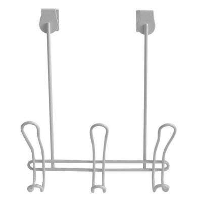 Classico Over-the-Door 3-Hook Rack in White