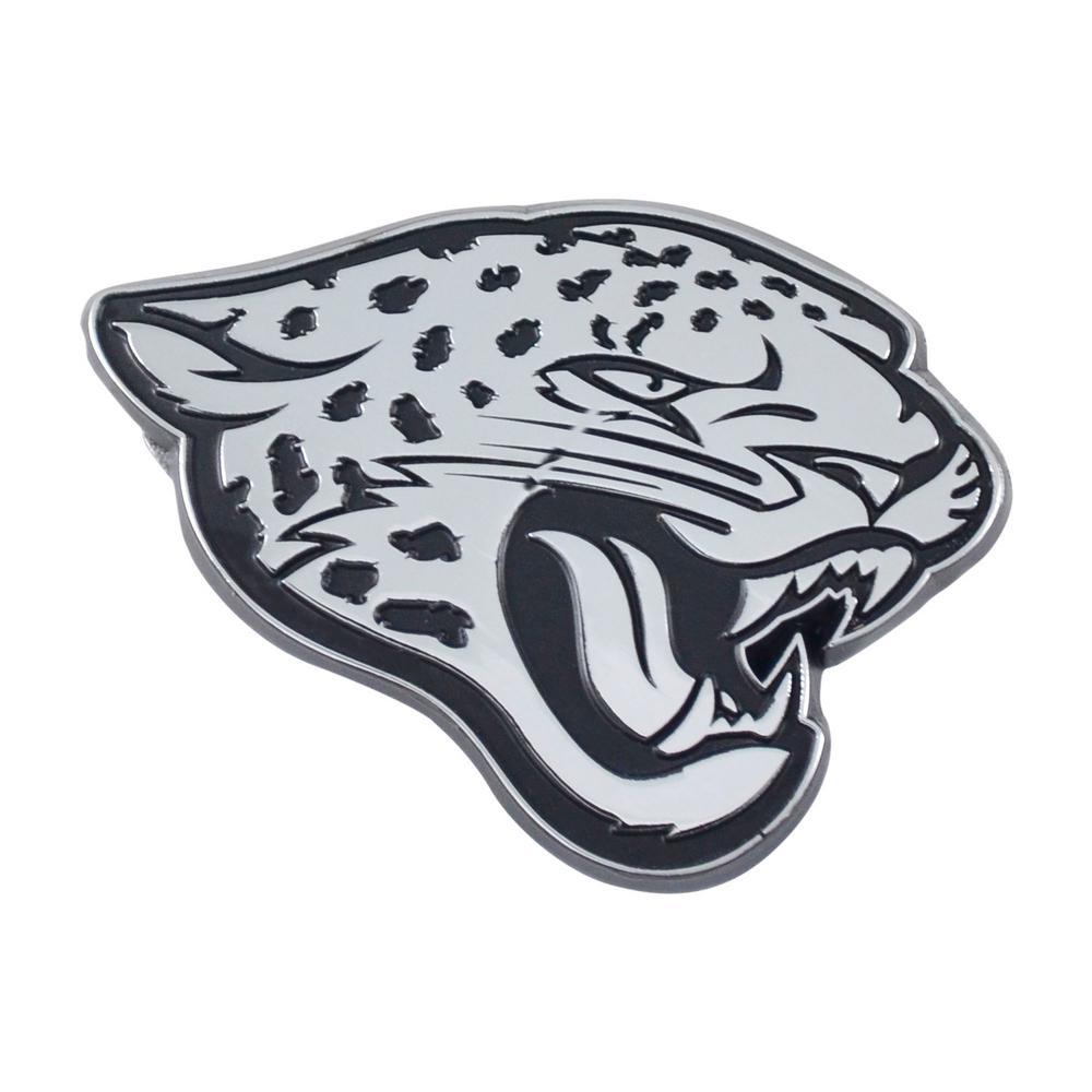 65202901 FANMATS NFL - Jacksonville Jaguars Chromed Metal 3D Emblem