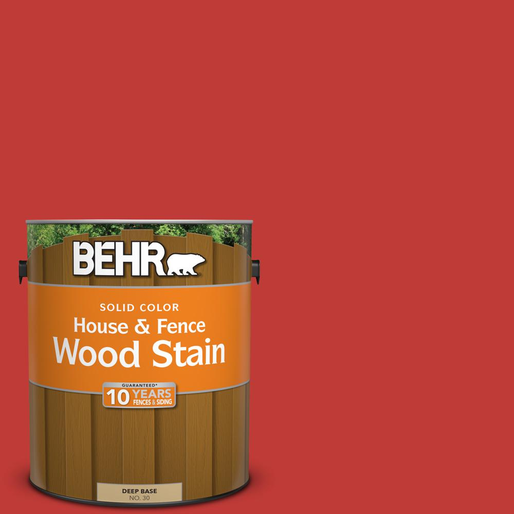 1 gal. #P150-7 Flirt Alert Solid House and Fence Wood Stain