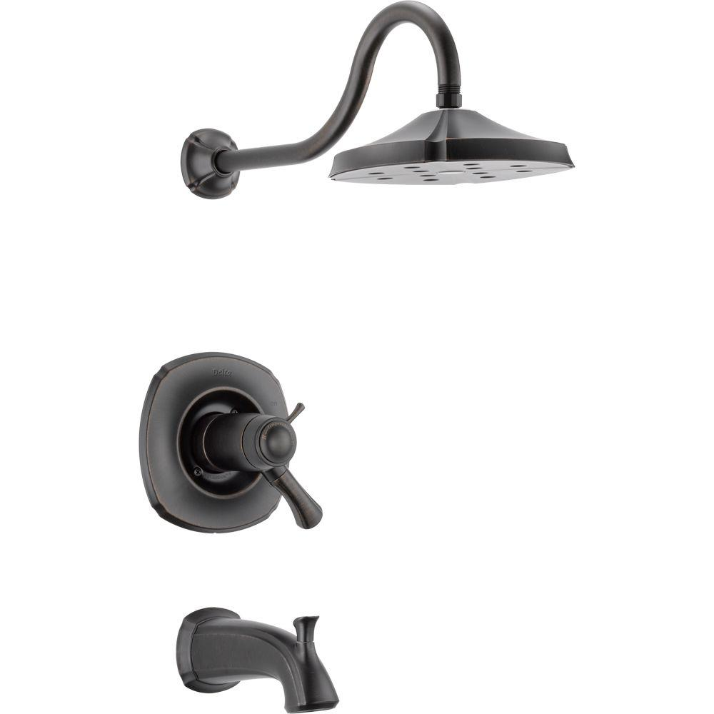 Delta Vero 1-Handle Tub and Shower Faucet Trim Kit Only in Venetian ...