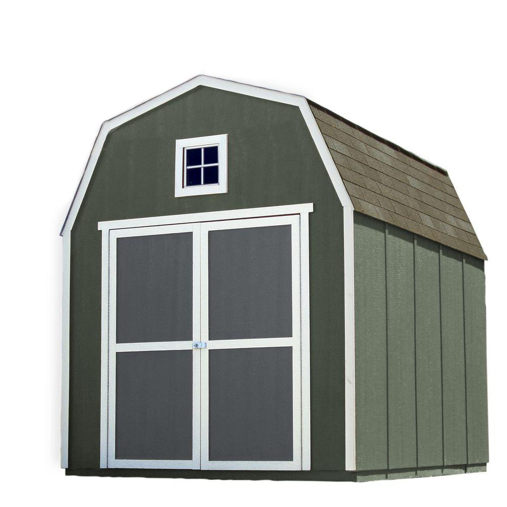 Handy Home Products Installed Montana 8 ft. x 10 ft. Wood Storage ...