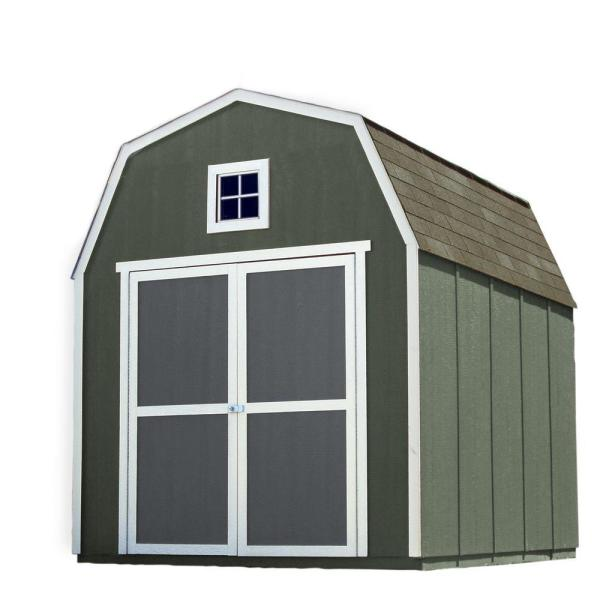 Handy Home Products Installed Montana 8 Ft X 10 Ft Wood Storage Shed With Driftwood Shingles 60203 0 The Home Depot