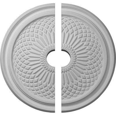 22 in. O.D. x 3-1/2 in. I.D. x 1-3/4 in. P Trinity Ceiling Medallion (2-Piece)