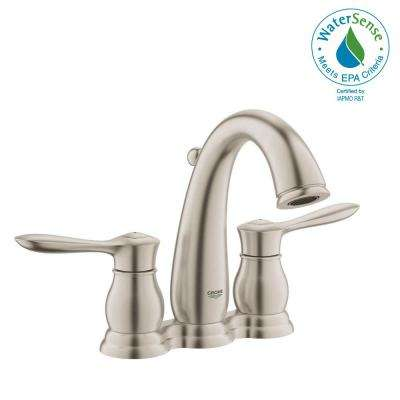Parkfield 4 in. Centerset 2-Handle 1.2 GPM Bathroom Faucet in Brushed Nickel Infinity