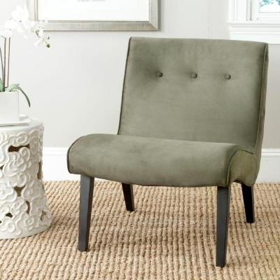 Mandell Forest Green Linen/Cotton Accent Chair