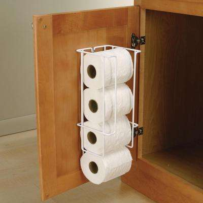 16 in. x 5.38 in. x 5.5 in. Door Mounted Toilet Paper Holder
