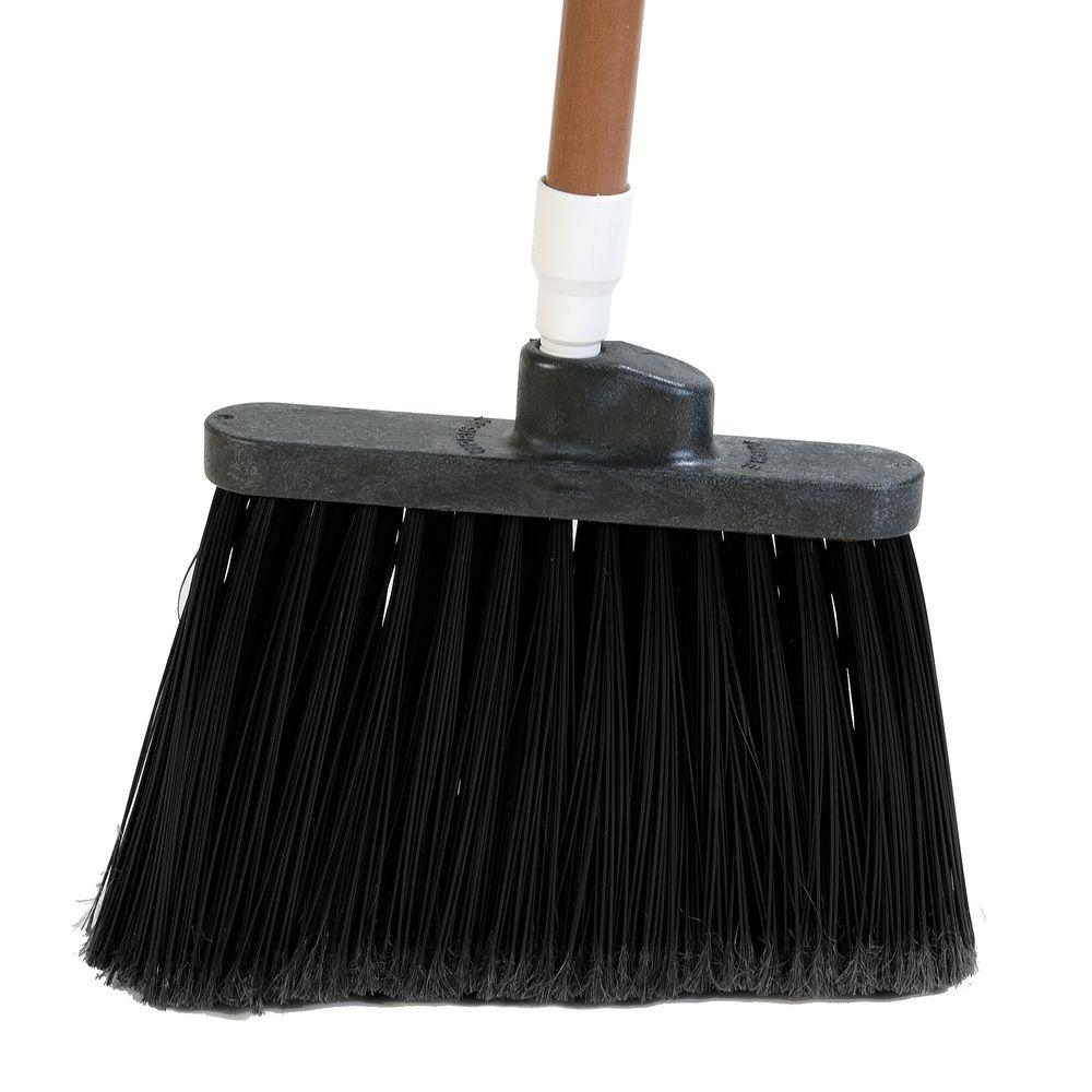 8 in. Flagged Angle Broom with 12 in. Flare Black Bristles
