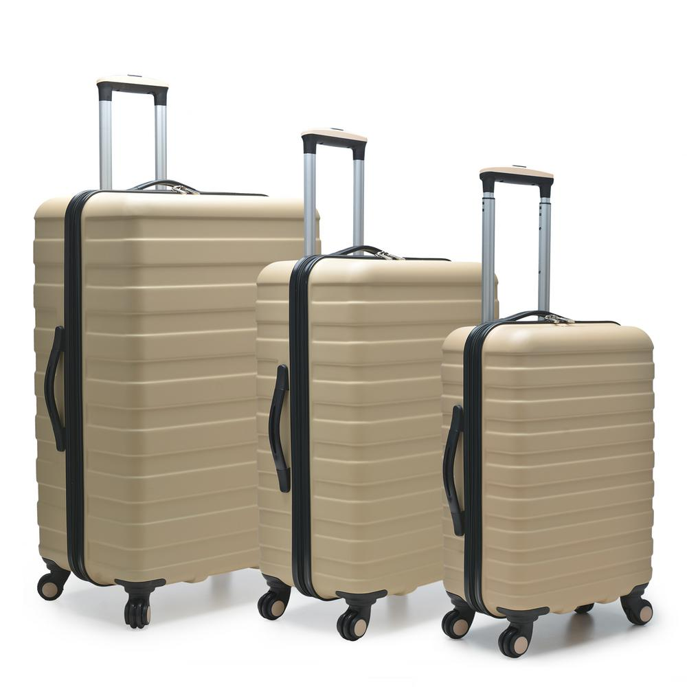 Cypress Colorful 3-Piece Sand Hardside Spinner Luggage Set