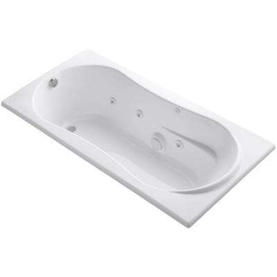 7236 6 ft. Whirlpool Tub with Reversible Drain in White