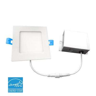 4 in. 3000K New Construction or Remodel IC Rated Canless Integrated LED Recessed Kit for Shallow Ceiling