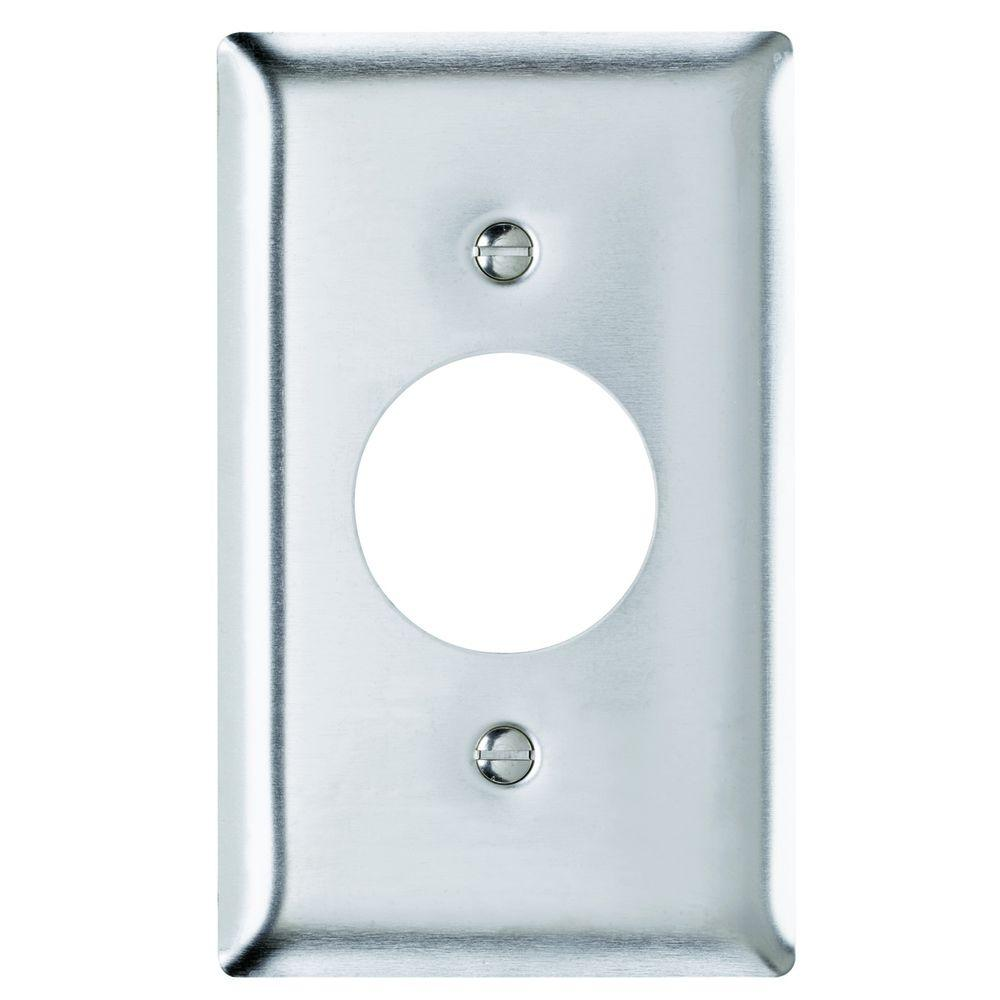 Legrand Pass & Seymour 430S/S 1 Gang Single Receptacle Wall Plate, Stainless Steel (1-Pack)