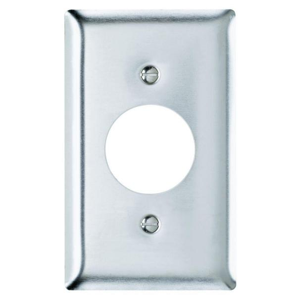 Legrand Pass Seymour 430s S 1 Gang Single Receptacle Wall Plate Stainless Steel 1 Pack Sl7cc5 The Home Depot