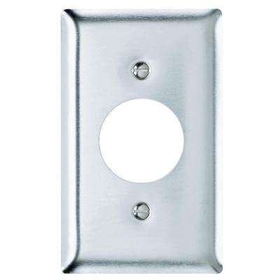 1-Gang 1 Receptacle Wall Plate - Stainless Steel