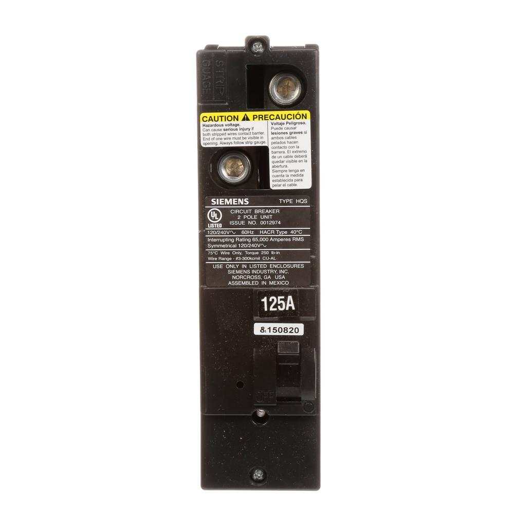 125 Amp Multi-Family Main Breaker Type QS