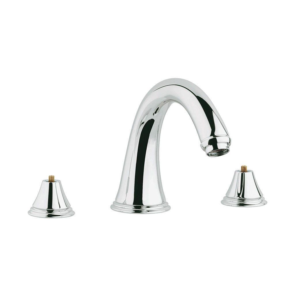 Geneva 2-Handle Deck-Mount Roman Bathtub Faucet in StarLight Chrome
