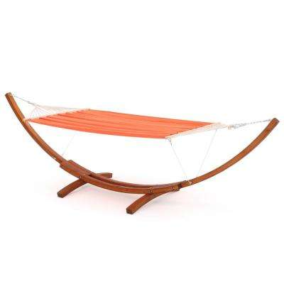 13.68 ft. Free Standing Blended Fabric Hammock Bed in Coral