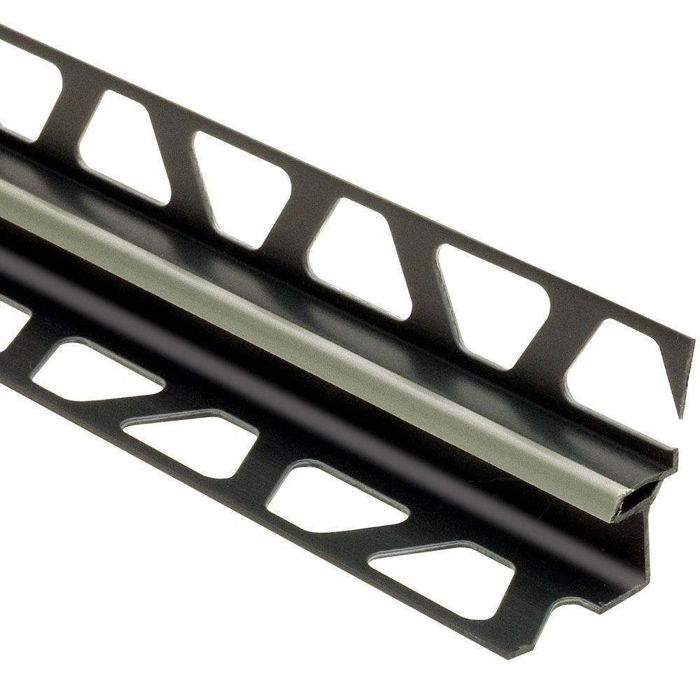 Dilex-EKE Grey 3/8 in. x 8 ft. 2-1/2 in. PVC Corner Movement Joint Tile Edging Trim