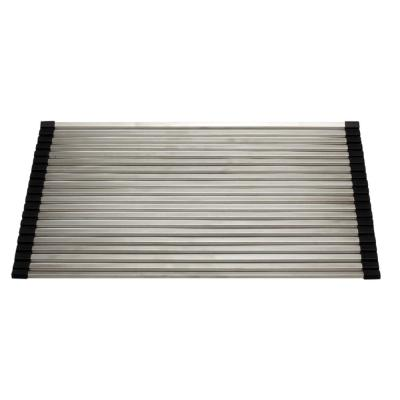 17.3 in. Gray Brushed Stainless Steel Drying Mat for Kitchen Sinks