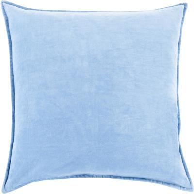 Artistic Weavers Velizh Light Blue Solid Polyester 20 In X 20 In