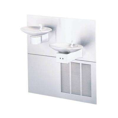 OVL-II Refrigerated Bi-Level Wall Mounted Drinking Fountain in Stainless Steel with Sensor Activation