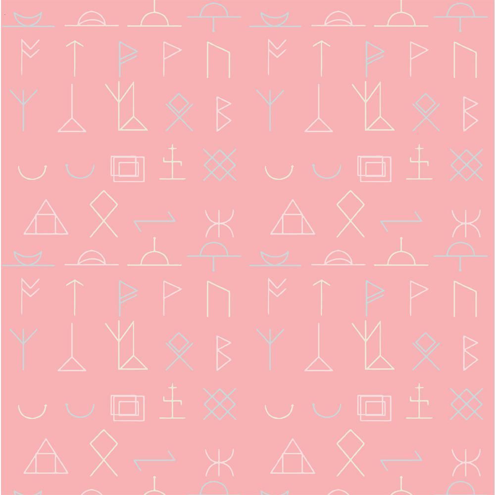 Art Deco Pink Fabric Wallpaper Decor The Home Depot