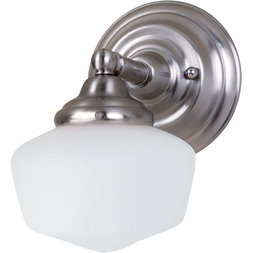 Sea Gull Lighting Academy 1-Light Brushed Nickel Sconce-44436-962 ...
