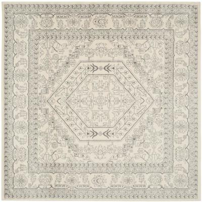 Adirondack Ivory/Silver 10 ft. x 10 ft. Square Area Rug