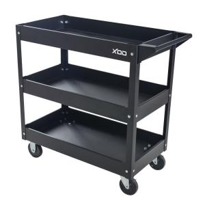 29 inch 3-Tray Rolling Tool Cart, Black by