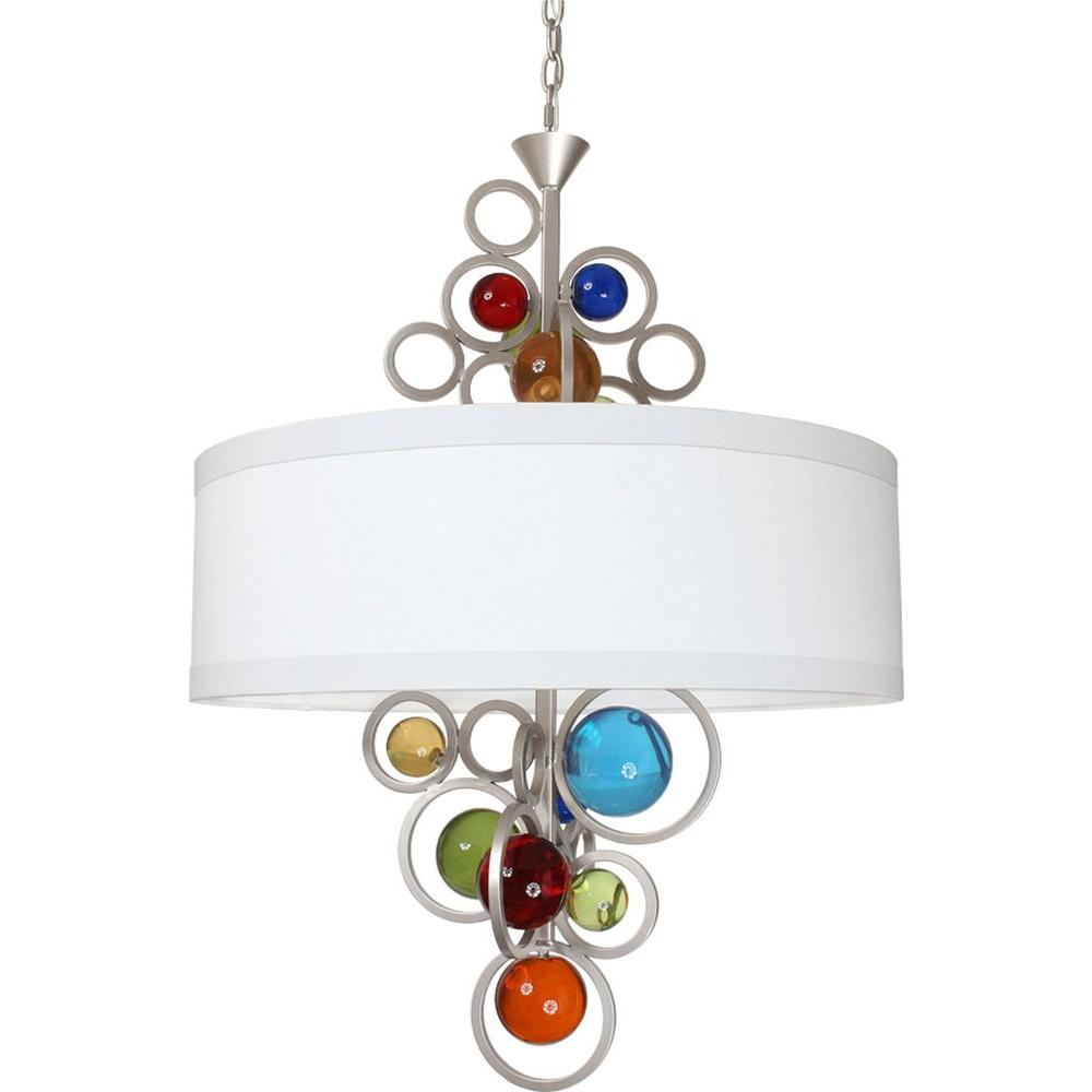 Filament Design Century 6-Light Brilliant Silver Chandelier