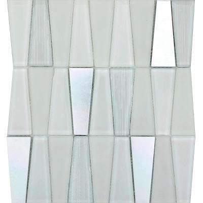 Imagine Ablaze Gloss/Matte Mix 10.83 in. x 11.81 in. x 8mm Glass Mesh-Mounted Mosaic Tile