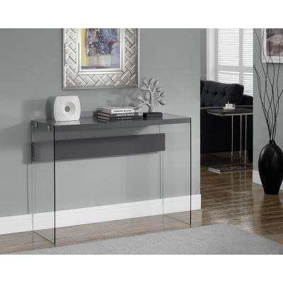 Glossy Grey Console Table