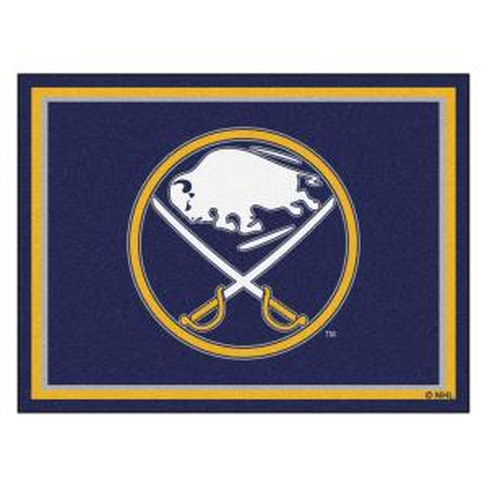 Nhl Buffalo Sabres Navy Blue 8 Ft X 10 Indoor Area Rug