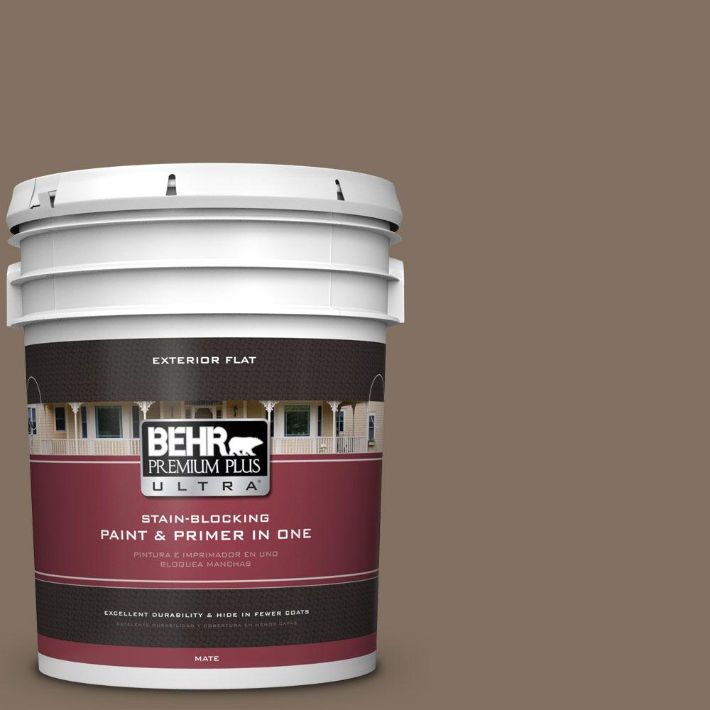 BEHR Premium Plus Ultra 5-gal. #PPU5-4 Mocha Latte Flat Exterior Paint
