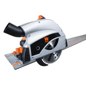 Wen 9 Amp Plunge Cut Circular Track Saw With Two 27 5 In