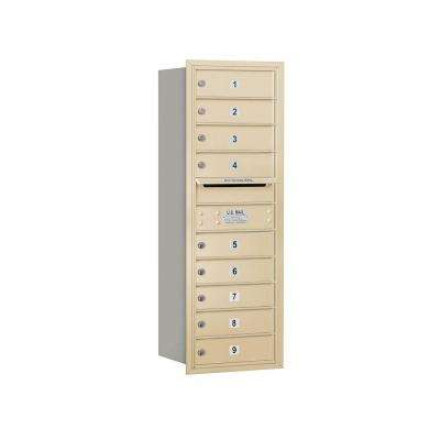 3700 Series 41 in. 11 Door High Unit Sandstone Private Rear Loading 4C Horizontal Mailbox with 9 MB1 Doors