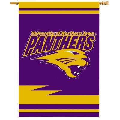 NCAA 28 in. x 40 in. Northern Iowa 2-Sided Banner with Pole Sleeve
