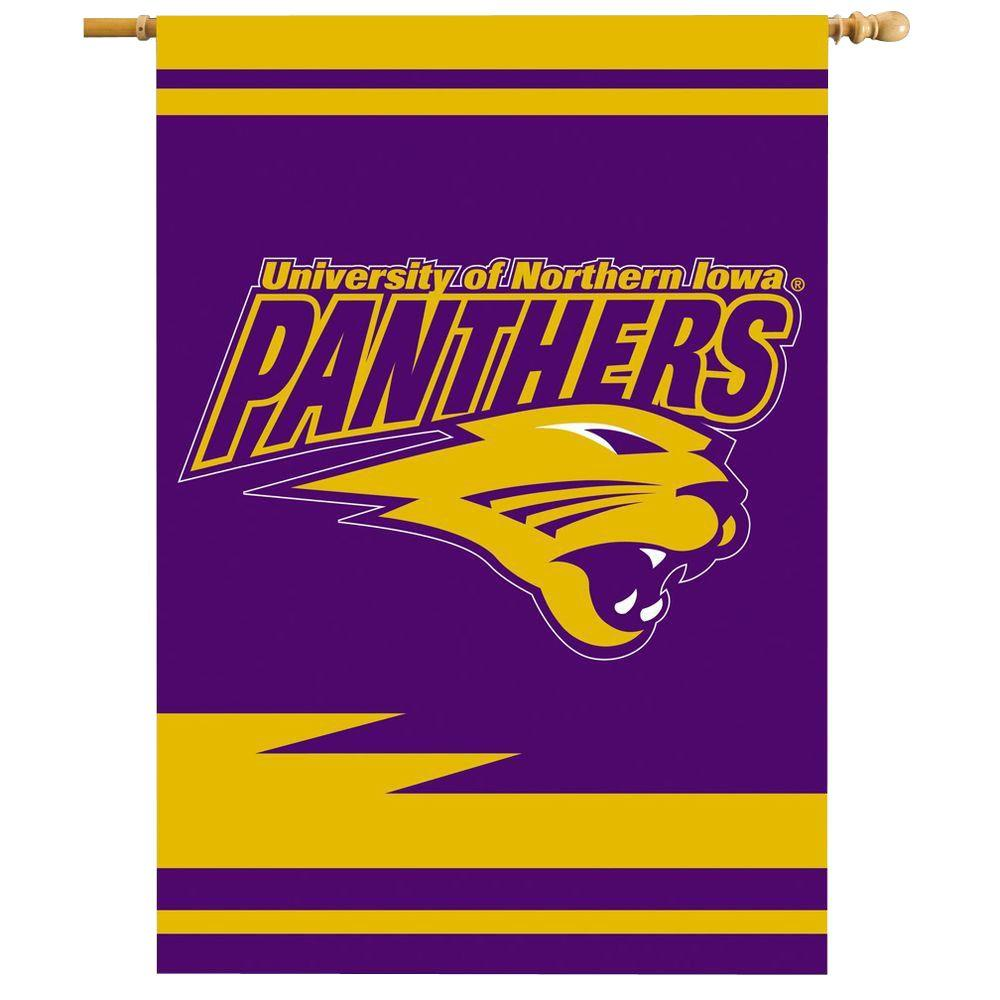 BSI Products NCAA 28 in. x 40 in. Northern Iowa 2-Sided Banner with Pole Sleeve
