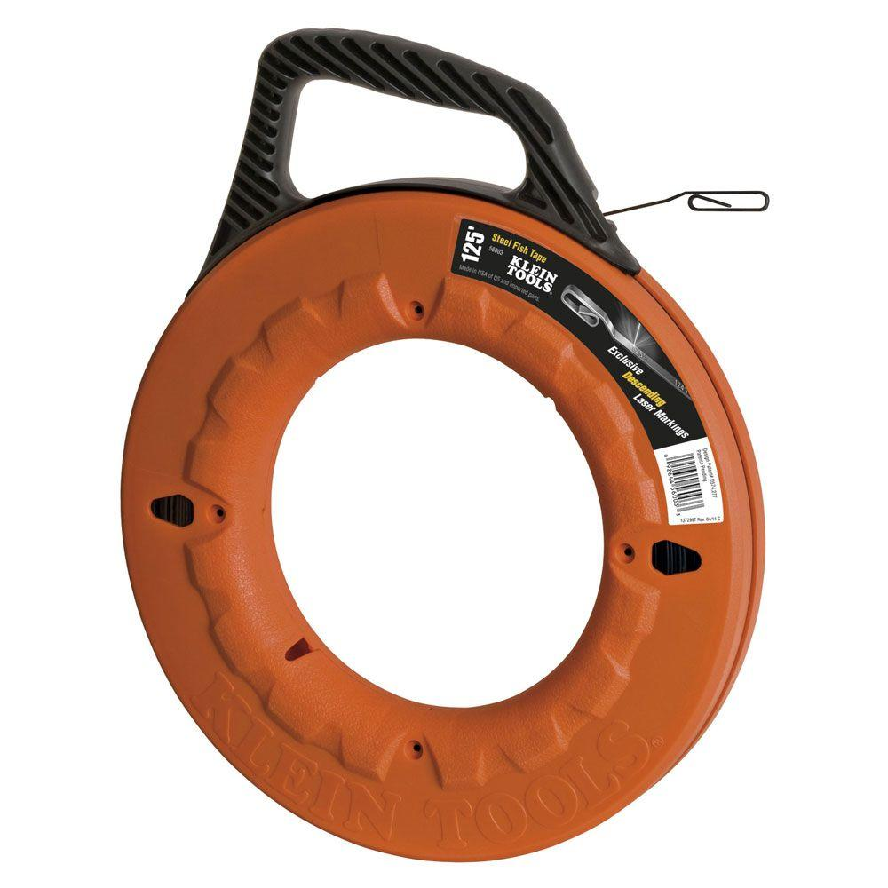 Klein Tools Depthfinder 125 ft. Steel Fish Tape