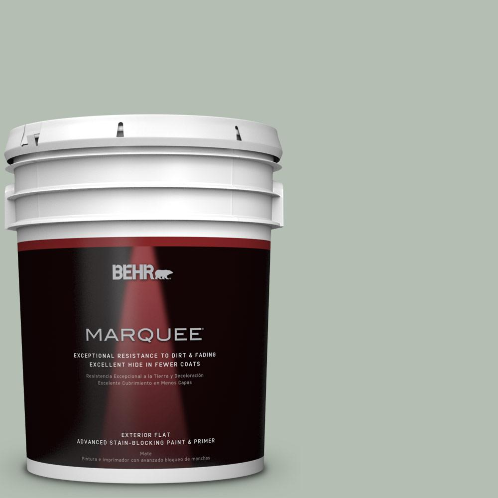 BEHR MARQUEE 5-gal. #N400-3 Flagstaff Green Flat Exterior Paint