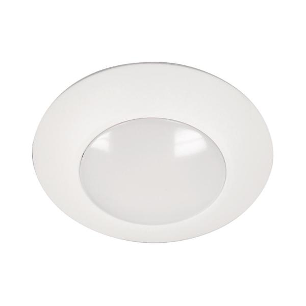 HLC 4 in. 5000K White Integrated LED Recessed Light Trim (12-Pack)