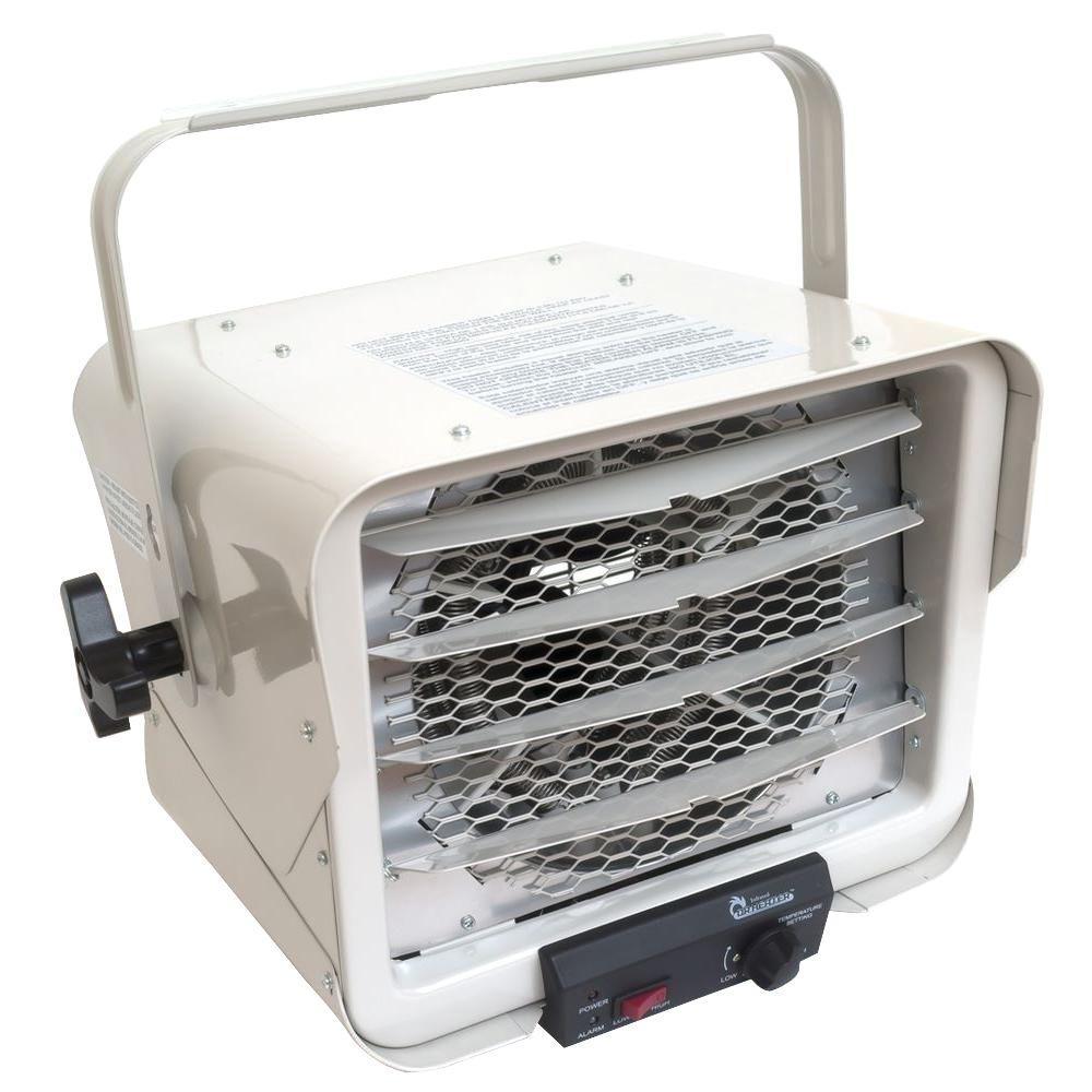 6000-Watt Portable Commercial Industrial Hardwire Fan Heater with Adjustable Air Flow