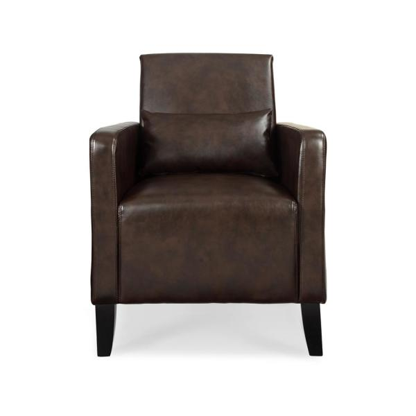 Admirable Dwell Home Inc Flare Wenge Faux Leather With Pillow Accent Ocoug Best Dining Table And Chair Ideas Images Ocougorg