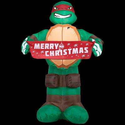 26.77 in. W x 25.20 in. D x 42.13 in. H Lighted Inflatable Raphael with Banner