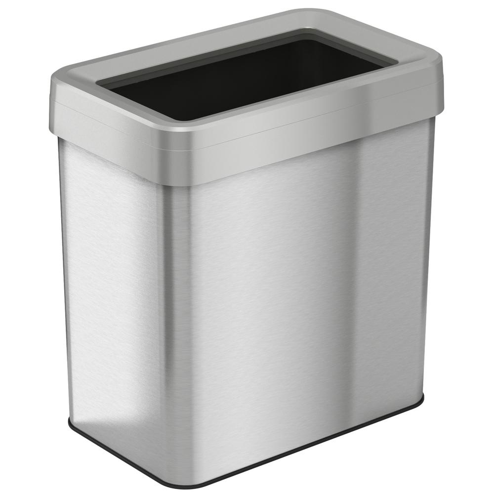 iTouchless 16 Gal. Rectangular Open Top Commercial Grade Stainless Steel Trash Can and Recycle Bin with Dual-Deodorizer